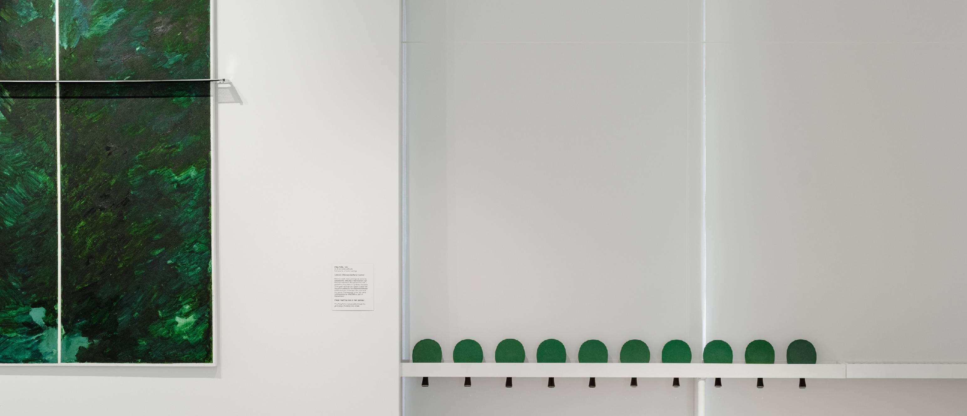 Ping pong paddles and artworks