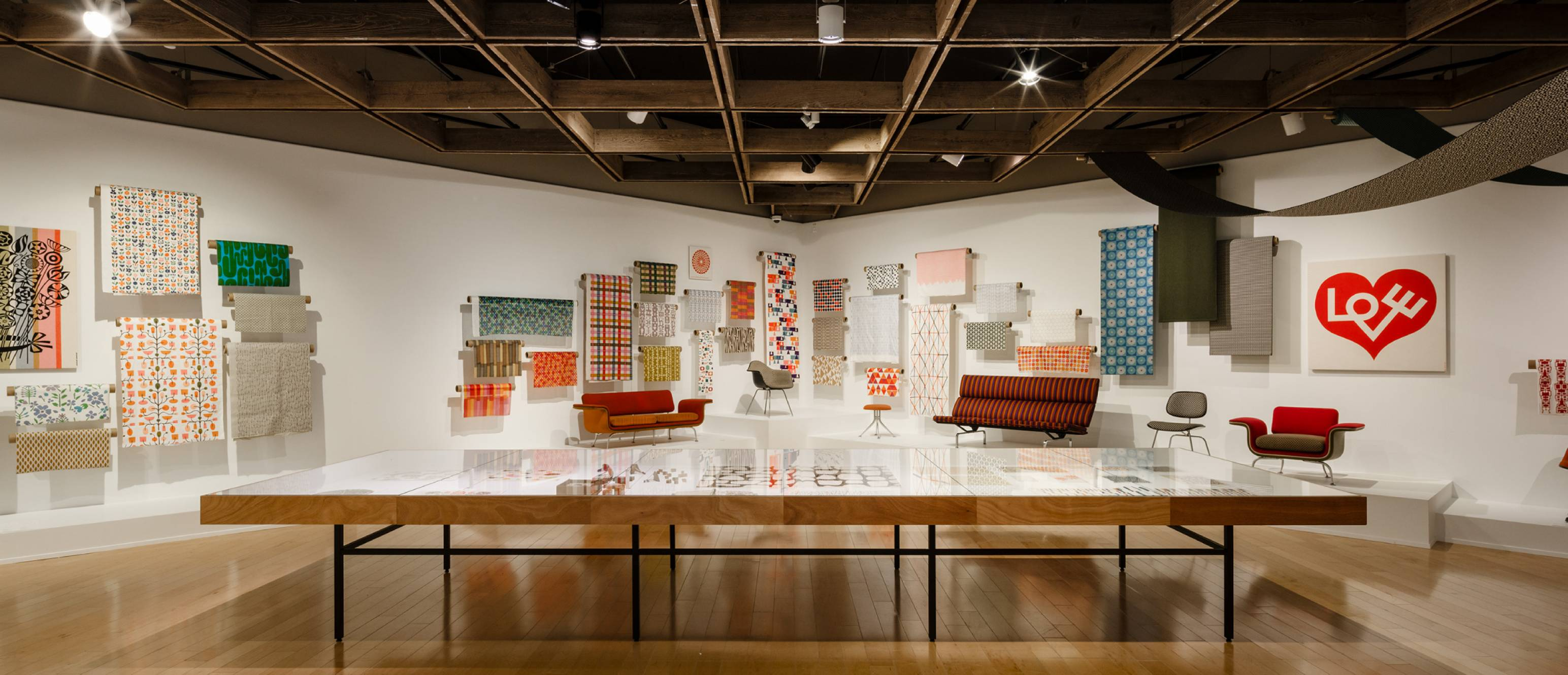 Alexander Girard exhibition, patterns and textiles
