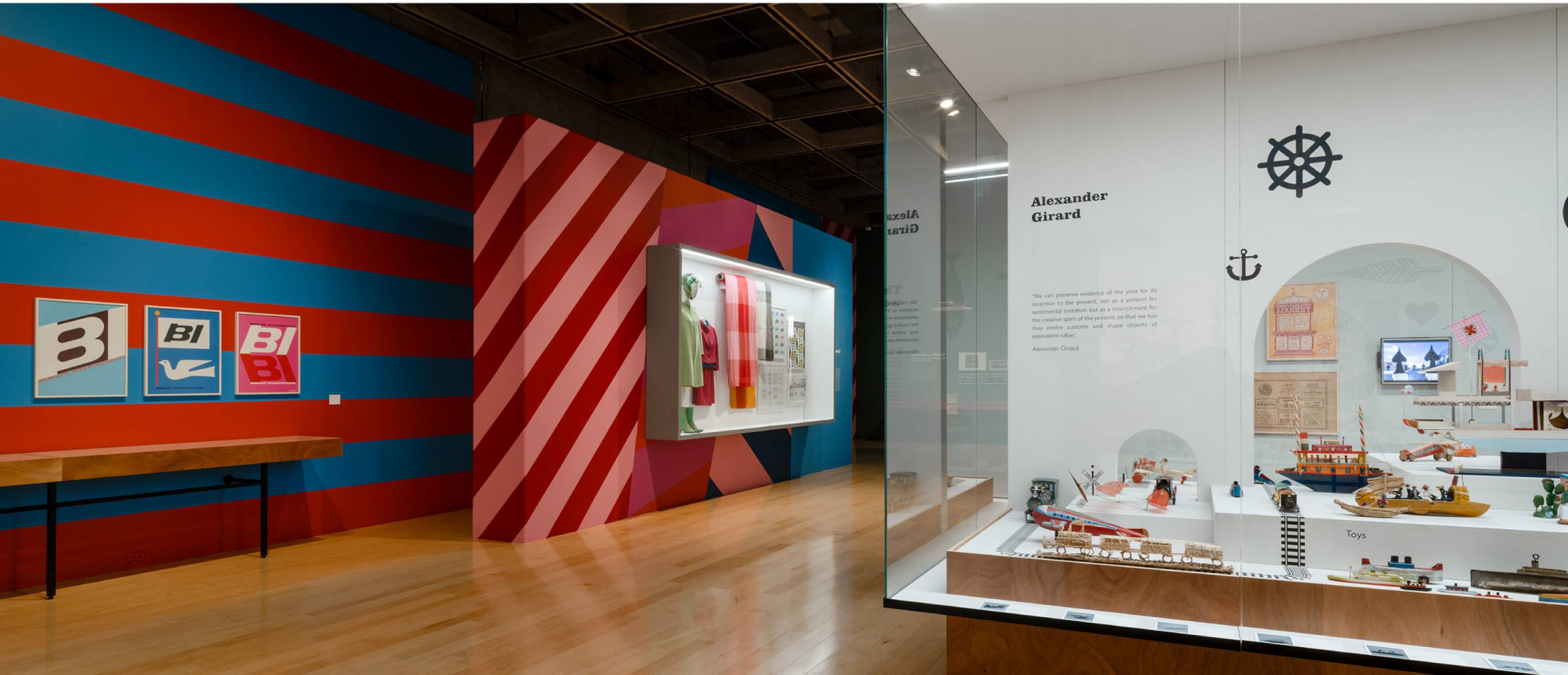 Alexander Girard exhibition, Braniff designs and Folk art collection