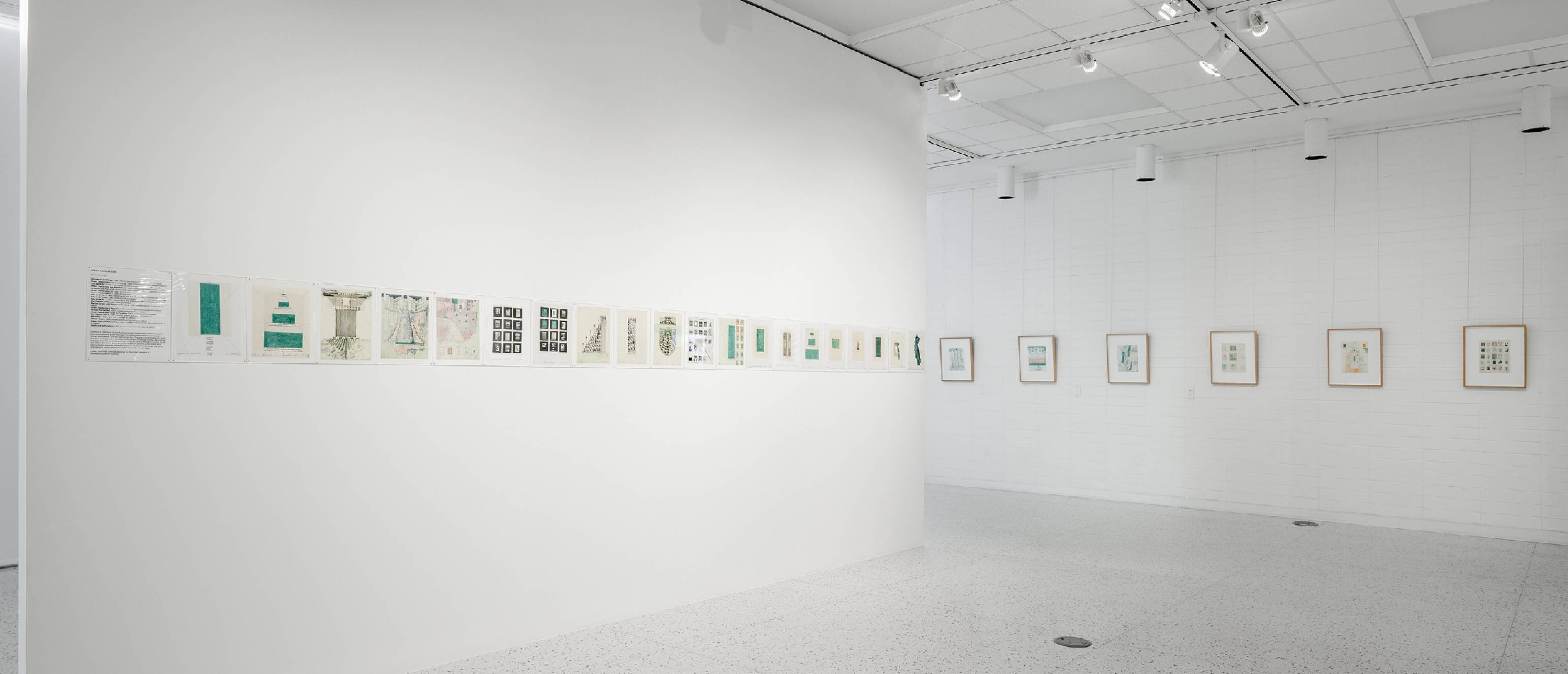 Drawings on the wall of the gallery